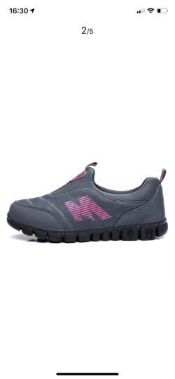 卡地玛丽老人鞋防滑软底中老年健步鞋套脚防滑爸爸妈妈鞋运动休闲男女鞋 M28 深灰/女款 38 晒单图