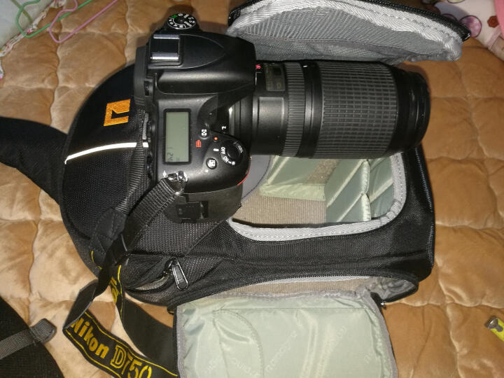 安诺格尔(ainogirl) 摄影包单肩斜跨单反相机包 适用佳能尼康单反微单 A1362 经典黑二代-中号 晒单图