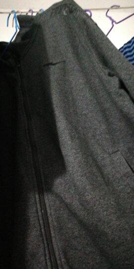 鸿星尔克男装 针织开衫卫衣 休闲防风运动开衫上衣外套 深麻花灰 L 晒单图