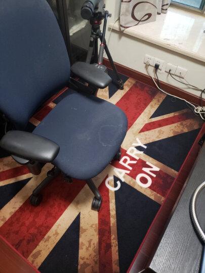 惠多 创意客厅茶几地毯 卧室床边毯子 喜庆火烈鸟地毯 卡通可爱猫咪毯 怀旧英伦米字旗 120CM*170CM 晒单图