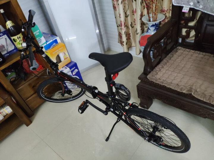 大行(DAHON) 折叠自行车P8碟刹款20寸8速成人男女铝合金单车D8 KBA083 丽面橙 晒单图
