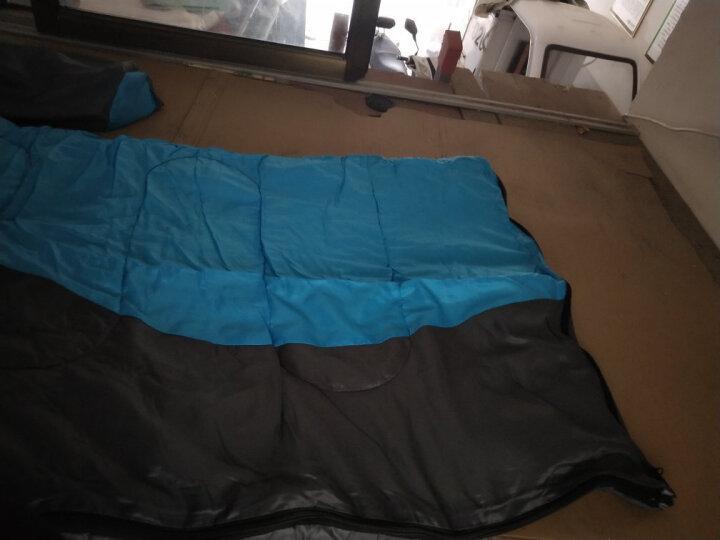 狼行者 户外睡袋 登山露营保暖防寒拼接单人信封式加厚棉睡袋  信封款-蓝色 晒单图