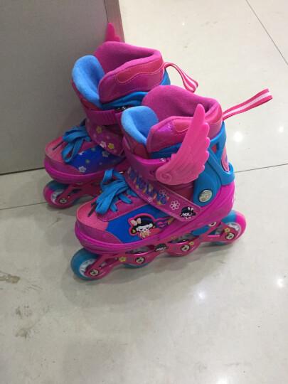 WITESS 溜冰鞋男女儿童套装旱冰鞋8轮PU全闪轮滑鞋滑冰鞋直排可调节大小 升级版-粉色8轮全闪-送加强版全套护具 S码(27码-33码)3岁到7岁 晒单图