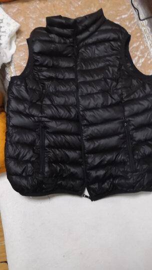 欧魅菲雨诗 秋冬装新款轻薄羽绒马甲女装大码保暖糖果色短款无袖背心外套 黑色 2XL(125-135斤左右) 晒单图