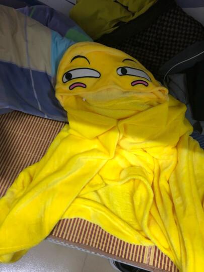 干物妹小埋咸鱼王史莱姆龙猫熊本熊FFF团滑稽懒人披风动漫周边披肩斗篷空调毯玩偶服睡衣外套 滑稽表情披风 均码 晒单图