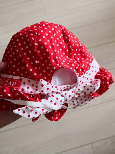 乐比熊(LEBIXIONG) 婴儿帽盆帽男女宝宝夏天公主帽遮阳太阳帽防晒帽子套头帽 水果盆帽黃色5-18个月 均码 晒单图