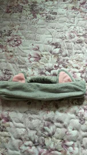 三利 超柔猫耳朵束发带 可爱头饰头巾发箍 9×23cm 洗脸化妆敷面膜发套 灰色+黑色 晒单图