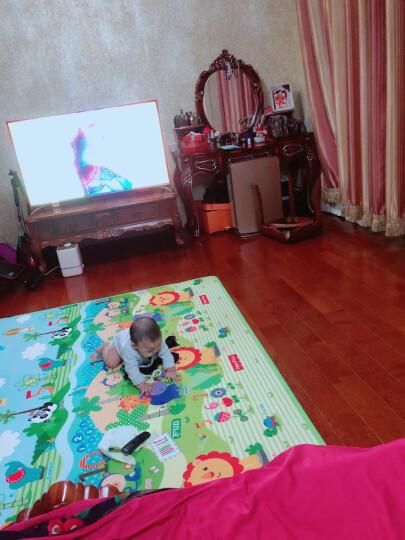费雪FisherPrice婴儿韩国进口加厚双面宝宝爬行垫 游戏垫BMF22 (180*200*1cm)新老包装随机发货 晒单图