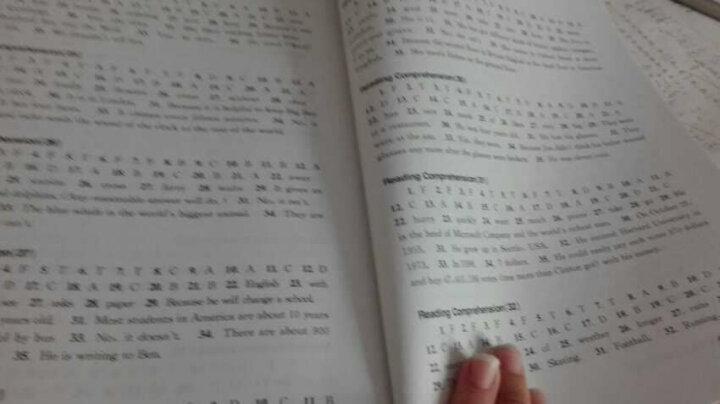 六年级英语阅读理解与完型填空加油站 晒单图