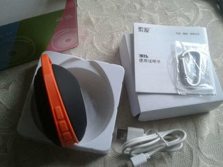 索爱(soaiy)S-33无线蓝牙音箱插卡便携迷你户外骑行低音炮手机音响 中国红 晒单图