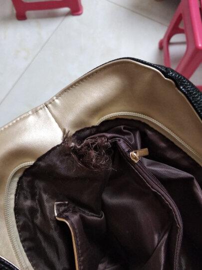 彤彤兔 手提包女包女士单肩斜挎手拎包时尚新款斜跨女式大包包 黑色 晒单图