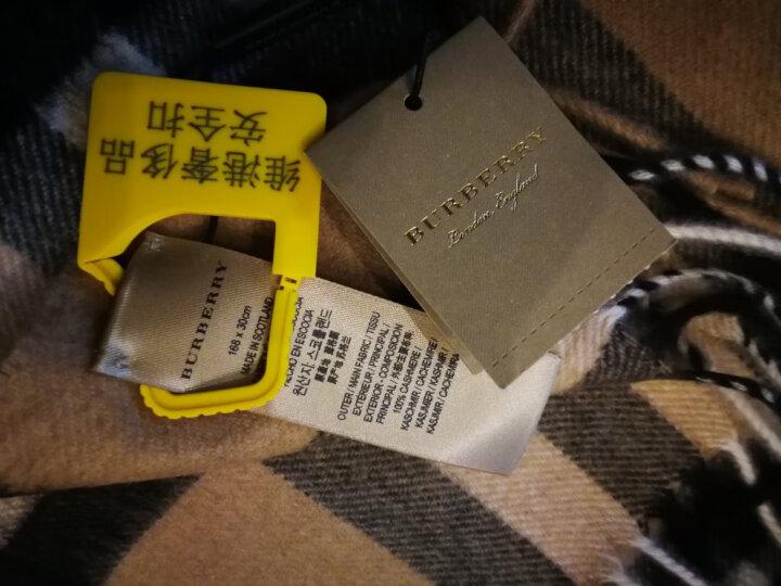 巴宝莉/博柏利Burberry 时尚休闲男女通用羊绒格纹流苏围巾 3895093 浅卡其3954673 168*30 晒单图