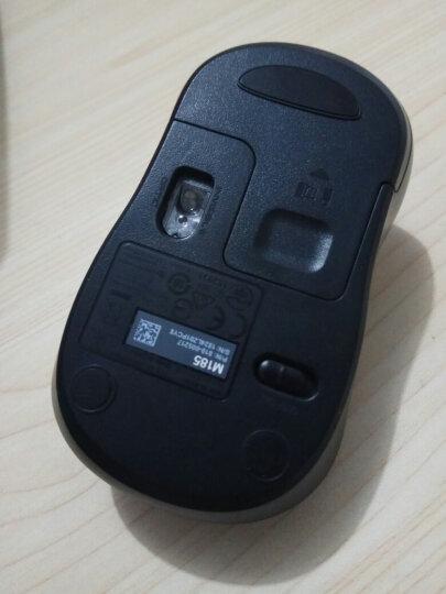 罗技(Logitech)M185(M186)无线鼠标 黑色红边 晒单图