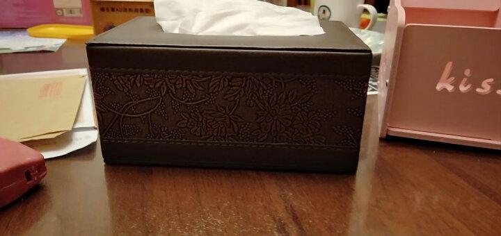 【2件8.8折】皮质纸巾盒 皮革抽纸盒客厅餐巾纸抽盒子 家用桌面茶几创意欧式现代简约车载车用 大号-咖啡色牛皮纹 晒单图