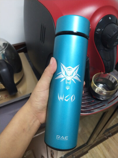 然也(RAE)450ml双层不锈钢保温杯壶WCO系列泡茶杯子 男女士情侣学生时尚商务车载办公水杯 深蓝色R3321 晒单图