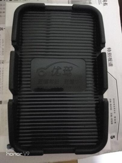 优驾 汽车车载手机防滑垫支架 大码双斜插槽 环保硅胶支持iPhone6 plus 多功能 防滑垫 晒单图