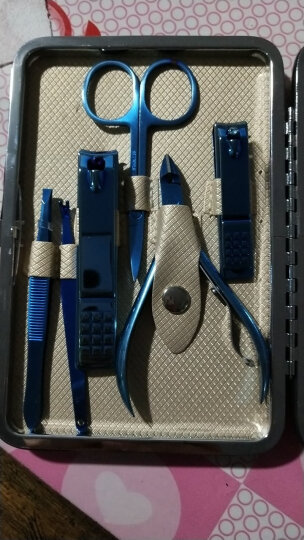 【新款上市】指甲刀套装 甲沟炎指甲剪钳美甲修剪甲工具套装 黑18件套指甲刀升级款 晒单图
