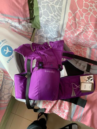 Sweeby(史威比)婴儿背带腰凳抱带前抱式多功能宝宝背带双肩透气儿童坐凳背带夏 紫色 晒单图
