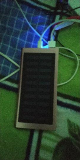 【有光就有电】太阳能充电宝超薄迷你小巧oppo苹果vivo华为80000M移动电源20000毫安 玫瑰金-太阳能+充电器 晒单图