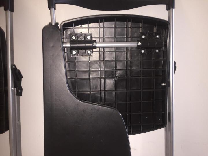 质凡 培训椅子会议椅折叠椅带写字板塑料电脑椅 灰色带写字板网兜 晒单图