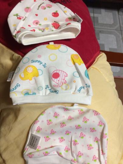 妈妈果 婴儿帽子宝宝纯棉夏季胎帽小孩男童女童婴幼儿新生儿0-3个月春夏 女宝宝三顶 晒单图