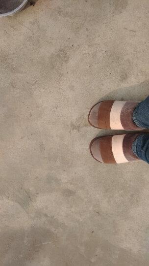 安尚芬 棉拖鞋 男女士情侣拖鞋居家防滑厚底保暖半包跟棉鞋 咖啡 270 40-41适合39-40 晒单图