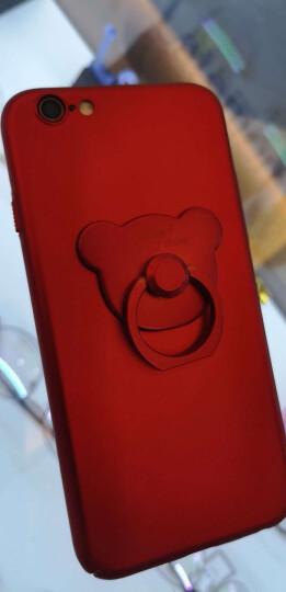 驰界 苹果6s手机壳女超薄全包防摔磨砂时尚潮男卡通指环iphone6s plus创意可爱硬壳保护套 小熊-红色-送钢化膜 iPhone6S 4.7英寸 晒单图