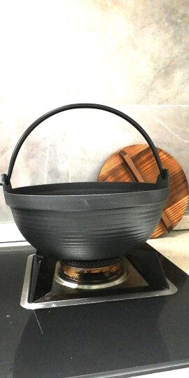 铸味汤锅  炖煮锅 日本汤锅 户外吊煮锅 寿喜锅 电磁炉燃气通用 配木盖 口径27cm 晒单图