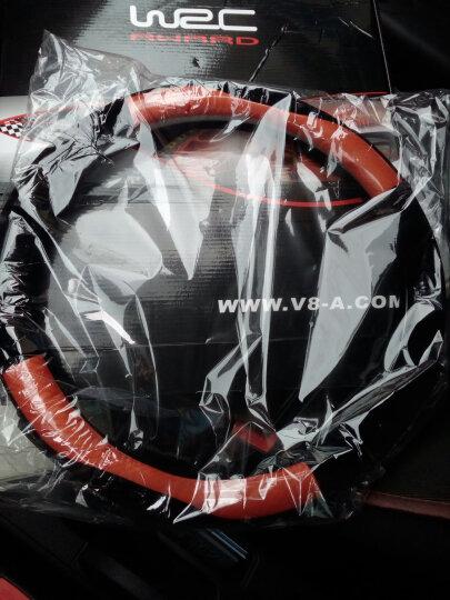 WRC四季细绒汽车皮革碳纤纹方向盘套帝豪gs宝骏560哈弗H6H2别克凯越英朗大众速腾迈腾轩逸把套中号 橙色 晒单图