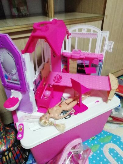 芭比(Barbie)闪亮度假屋带娃娃大套装礼物女孩玩具礼盒 CFB65 晒单图
