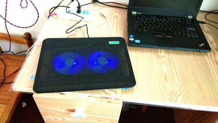 绿巨能(llano)笔记本散热器 散热支架 散热底座 散热板 散热垫 适用14英寸及以下电脑 双风扇静音排风扇A1 晒单图