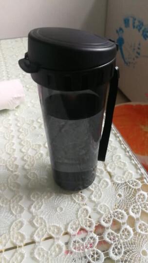 特百惠(Tupperware)500ML茶韵塑料随心水杯子 酷炫黑运动水杯带茶隔杯绳 晒单图
