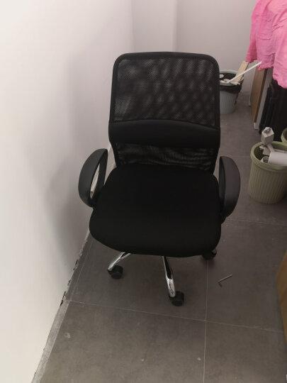 联丰(lianfeng) 电脑椅 办公椅子 家用转椅网布职员椅 W-128DS 黑 晒单图