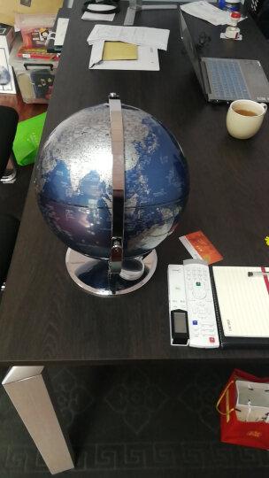 得力(deli)万向金属底座地球仪 直径30cm 商务礼品居家摆设 带放大镜 办公用品 蓝2163 晒单图