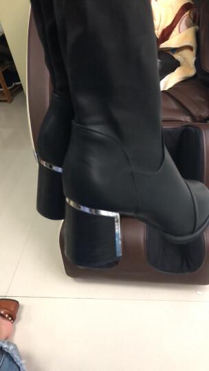 秋冬款瘦腿弹力靴中跟长筒保暖女靴粗跟女鞋过膝长靴子潮 ML5d038黑色 38 晒单图