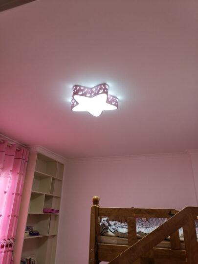 壹朵儿童灯卧室灯 男孩女孩儿童房灯 LED粉色卡通创意个性蓝色五角星星儿童房间吸顶灯具灯饰 蓝圆24瓦 38×38cm 三色变光 晒单图