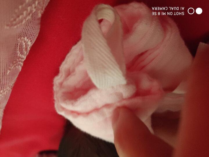 婧麒(JOYNCLEON) 婧麒新生儿毛巾小方巾宝宝口水巾纯棉婴儿手帕洗脸洗澡洗面巾婴儿 红蓝白三条装 均码 晒单图