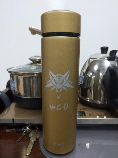 然也(RAE)450ml双层不锈钢保温杯壶WCO系列泡茶杯子 男女士情侣学生时尚商务车载办公水杯 太空灰R3325 晒单图