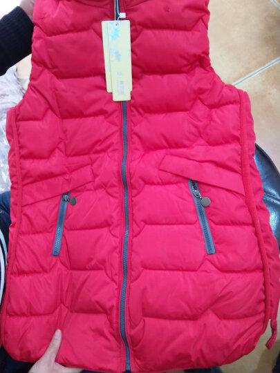 林羽森女士马甲中长款2019韩版女式背心马夹羽绒棉马甲女秋冬女装坎肩外套 红色 2XL(推荐120斤-135斤) 晒单图