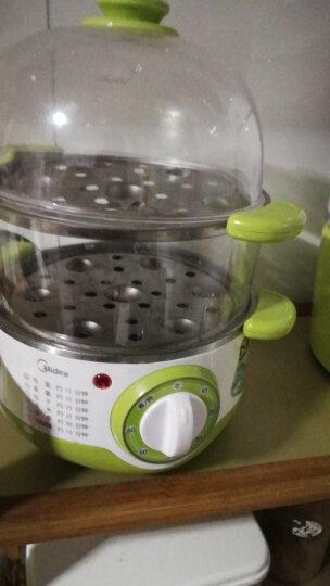 美的(Midea)煮蛋器蒸蛋器 家用迷你早餐机神器 双层多用电蒸锅智能防干烧 煮鸡蛋 SYH18-2A 晒单图