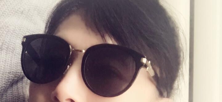 FERRAGAMO 菲拉格慕 女款亮黑色镜框亮黑色镜腿灰色镜片眼镜太阳镜 SF852SK 001 55MM 晒单图