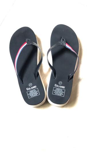 优品鞋靴 凉拖鞋女夏季沙滩外穿拖鞋人字拖鞋中跟厚底凉拖鞋厚底浴室拖鞋 女高跟/黑色 240(36-37)偏小半码 晒单图