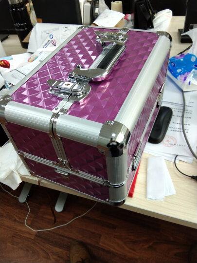 博瑞(BORY)化妆箱 手提化妆箱  大容量跟妆美甲工具箱  纹绣美发美容半永久工具箱 紫色 晒单图