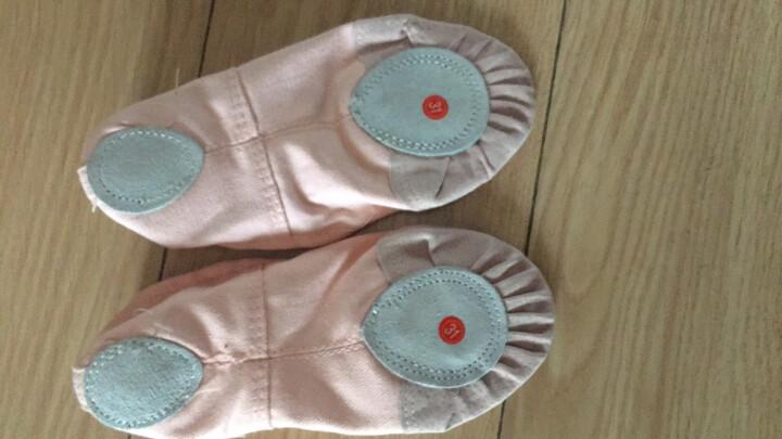 驰动 成人幼儿童舞蹈鞋软底练功鞋女童猫爪鞋跳舞鞋帆布瑜伽鞋芭蕾舞鞋 肉色27码 晒单图