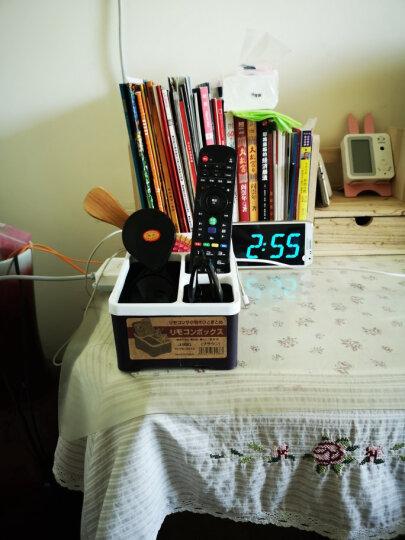 糖果色塑料遥控器收纳盒 家居办公用品钥匙手机整理纸巾盒 咖啡色 晒单图