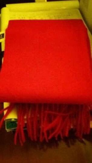 初荷 TRUE HER 围巾女冬季羊毛加厚欧美秋季保暖围脖披肩两用年会团购礼盒包装 轻奢凝脂系列 红色 晒单图