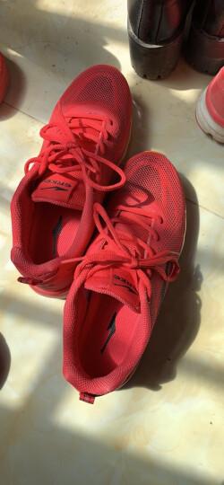 鸿星尔克ERKE跑鞋新款情侣款全掌气垫减震运动慢跑鞋女款52116120028三角梅红38码 晒单图
