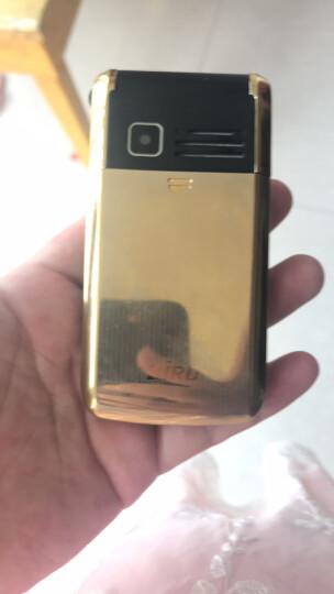 波导(BiRD) A530 翻盖老人手机 移动联通版 双卡双待 功能机 金色 官方标配+8G内存卡 晒单图