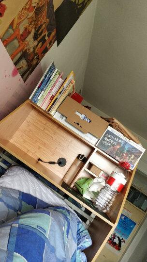 木以成居 电脑桌 大学生宿舍桌子上下铺带收纳书架床上书桌懒人笔记本桌写字台 竹木色LY-4001A 晒单图
