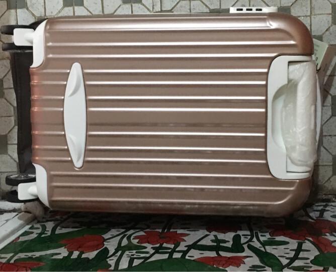 迈克米兰铝框拉杆箱万向轮女旅行箱男行李箱登机箱20/24/28英寸 玫瑰金【拉链款】 20英寸 登机箱 3天出行 晒单图